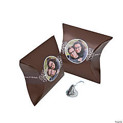 Chocolate Brown Custom Photo Pillow Boxes