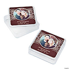 Chocolate Brown Custom Photo Square Containers