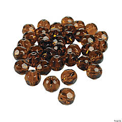 Chocolate Brown Cut Crystal Round Beads - 8mm