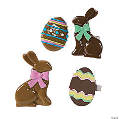 Chocolate Brown Easter Rings