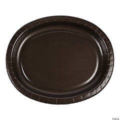 Chocolate Brown Oval Paper Dinner Plates