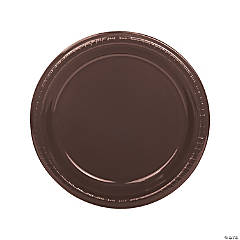 Chocolate Brown Plastic Dinner Plates