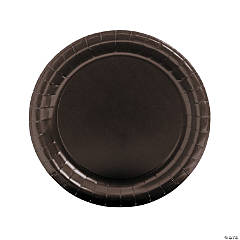 Chocolate Brown Round Paper Dinner Plates