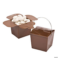 Chocolate Brown Take Out Boxes