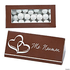 Chocolate Brown Wedding Place Card Favor Boxes