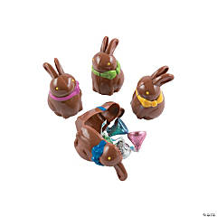 Chocolate Bunny-Shaped Eggs - 12 Pc.