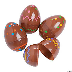 Chocolate Candy-Printed Plastic Easter Eggs