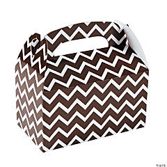 Chocolate Chevron Treat Boxes