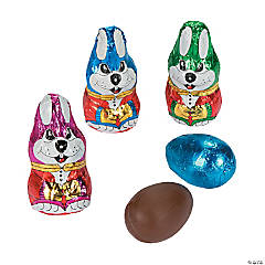 Chocolate Easter Bunnies with Egg