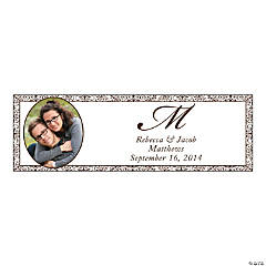 Chocolate Flourish Small Custom Photo Banner