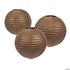 Chocolate Hanging Paper Lanterns