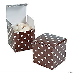 Chocolate Polka Dot Gift Boxes