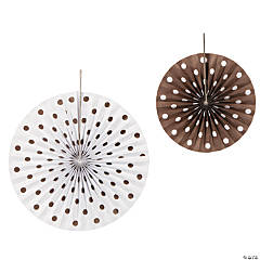 Chocolate Polka Dot Hanging Fans