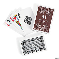 Chocolate Roman Monogram Playing Cards