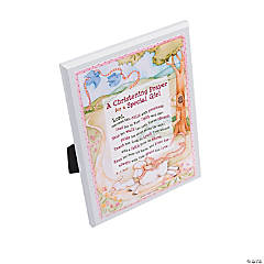 Christening Prayer Plaque - Girl