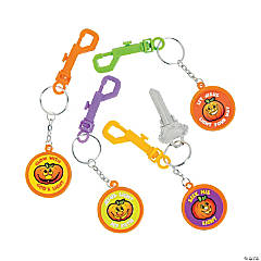Christian Pumpkin Backpack Clip Key Chains