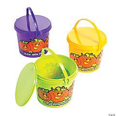 Christian Pumpkin Favor Pails with Lids