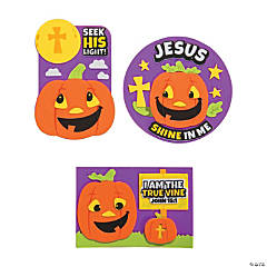 Christian Pumpkin John 15:1 Magnet Craft Kit