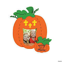 Christian Pumpkin Picture Frame Magnet Craft Kit
