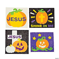 Christian Pumpkins Sand Art Magnets