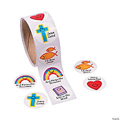 Christian Symbols Smile Face Stickers
