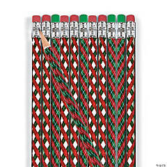 Christmas Argyle Pattern Pencils