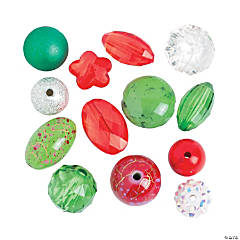 Christmas Bead Mix - 10mm - 18mm
