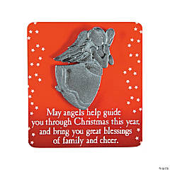 Christmas Blessing Angels on Card