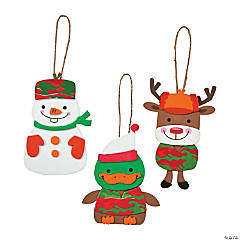 Christmas Camo Characters Ornament Craft Kit