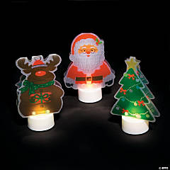 Christmas Character Battery-Operated Votives