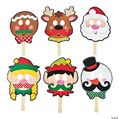 Christmas Character Mustache Masks