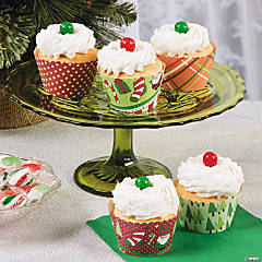 Christmas Cheer Cupcake Collars Idea