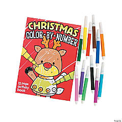 Christmas Color By Numbers Books