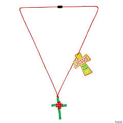 Christmas Cross Necklace with Card Craft Kit