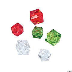 Christmas Cube Beads - 8mm