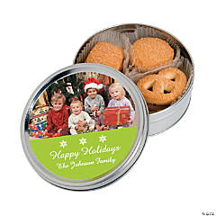 Christmas Custom Photo Cookie Tins