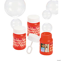 Christmas Custom Photo Mini Bubble Bottles