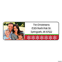 Christmas Custom Photo Return Address Labels