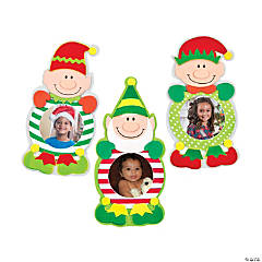 Christmas Elf Picture Frame Magnet Craft Kit