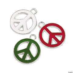 Christmas Enamel Peace Charms