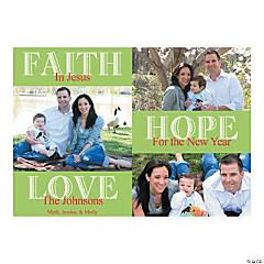 Christmas Faith Hope Love Custom Photo Cards