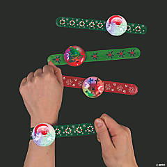 Christmas Flashing Slap Bracelets