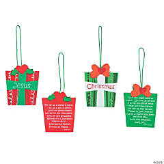 Christmas Gift Bible Verse Ornament Craft Kit