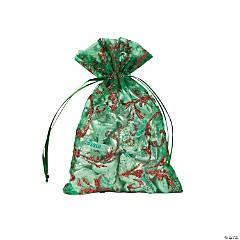 Christmas Glitter Swirl Organza Bags