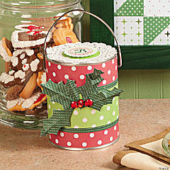 Christmas Holly Treat Bucket Idea