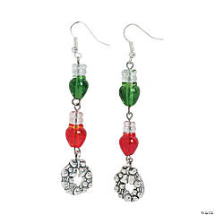 Christmas Lightbulb Earrings Idea