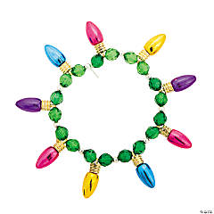 Christmas Lights Beaded Bracelet Craft Kit