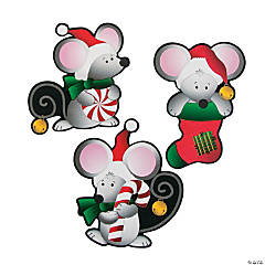Christmas Mice Bulletin Board Cutouts