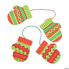 Christmas Mittens Ornament Craft Kit
