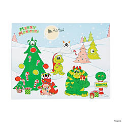 Christmas Monster Sticker Scenes